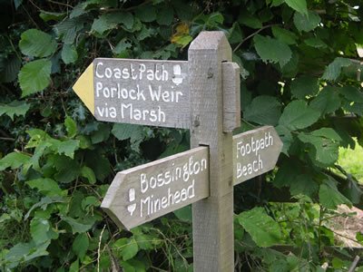 Porlock sign